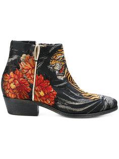 ботинки с вышивкой и аппликацией P.A.R.O.S.H.