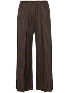 укороченные брюки-палаццо  Pleats Please By Issey Miyake