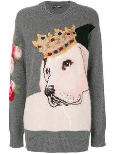 свитер с королевской собакой Dolce & Gabbana