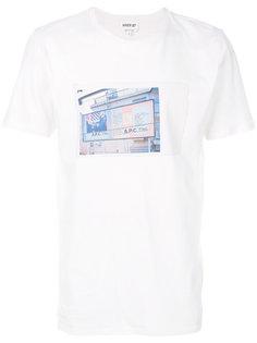 футболка с фото принтом A.P.C.