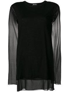 многослойная блузка с прозрачными деталями Andrea Yaaqov