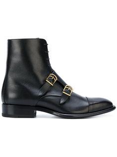 высокие ботинки с ремешками на пряжках Jil Sander
