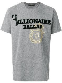 футболка с принтом-логотипом Billionaire