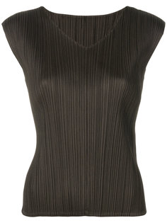 плиссированная футболка с V-образным вырезом Pleats Please By Issey Miyake