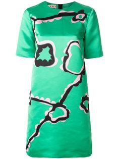 платье-шифт с абстрактным принтом Marni