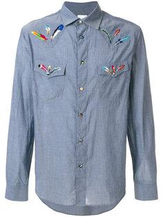 рубашка с вышитыми перьями  Paul Smith