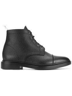зернистые ботинки на шнуровке Thom Browne