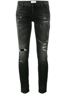 джинсы скинни с прорванными деталями Faith Connexion
