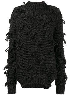 свитер крупной вязки с декоративными петлями Simone Rocha