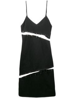 платье на тонких лямках с вырезами и булавками Beau Souci
