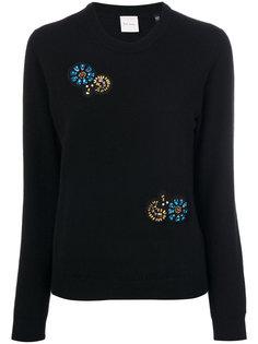 свитер с нашивками  Paul Smith