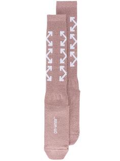 носки со стрелами  Off-White