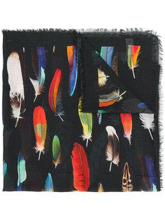 шарф с принтом перьев Paul Smith