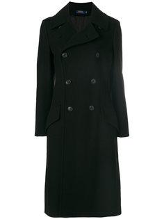 длинное двубортное пальто Polo Ralph Lauren