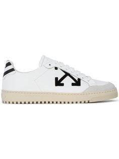 кроссовки на шнуровке с контрастным логотипом Off-White