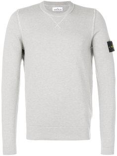 свитер с логотипом на рукаве Stone Island