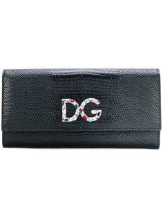 кошелек с откидным клапаном и фирменной бляшкой Dolce & Gabbana