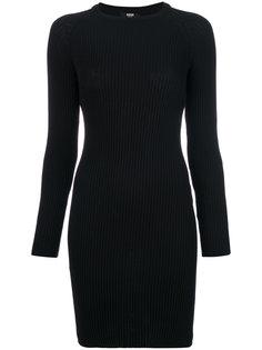 платье с логотипом на рукавах Versus