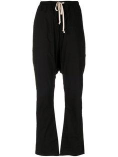 брюки со шнурком и заниженным шаговым швом  Rick Owens DRKSHDW