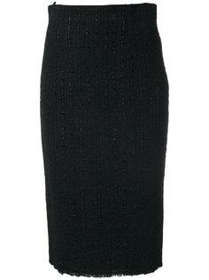 твидовая юбка средней длины Alexander McQueen