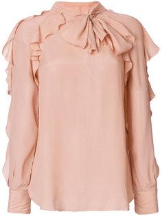 блузка с завязкой на бант и рюшами See By Chloé