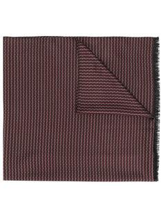 шарф с мелким принтом Brioni