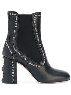 ботинки с заклепками Miu Miu