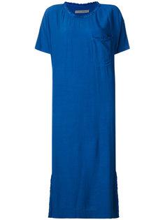 платье свободного кроя с рваными деталями Raquel Allegra