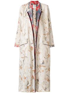 объемное пальто с цветочным узором Forte Forte