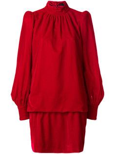 платье с высокой горловиной и сборками Marc Jacobs