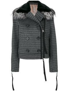 укороченная куртка в клетку  Nº21