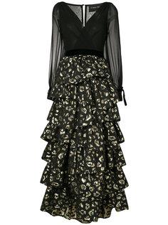 платье с анималистическим принтом Christian Pellizzari
