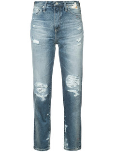distressed high-rise jeans Ag Jeans