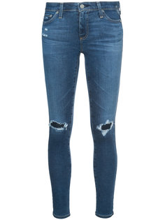 джинсы кроя скинни с потертой отделкой Ag Jeans