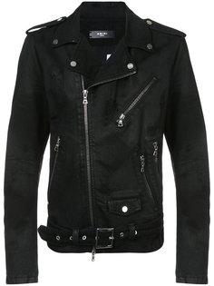 байкерская куртка на молнии Amiri