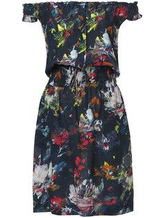 printed off shoulder dress Tomas Maier