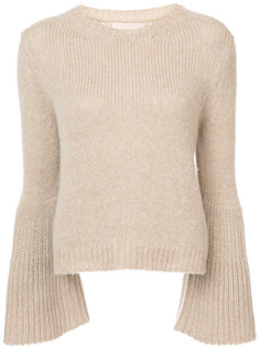 flared sleeve cashmere jumper  Brock Collection