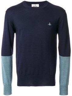 свитер дизайна колор-блок Vivienne Westwood