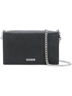 фактурная сумка на плечо с логотипом Versus