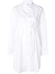 длинная рубашка с поясом Maison Margiela