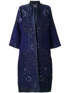 жаккардовое пальто в стиле кимоно Alberta Ferretti