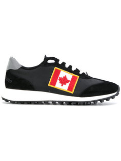 кроссовки с нашивкой канадского флага Dsquared2