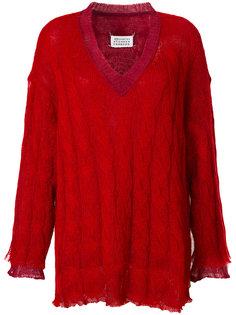 свитер с вышивкой  Maison Margiela