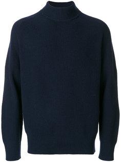 свитер с отворотной горловиной Sacai