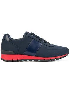 кроссовки с контрастной подошвой Prada