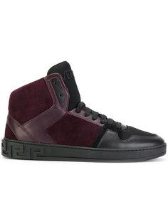 кроссовки с панельным дизайном Versace