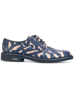 туфли с абстрактным принтом Versace