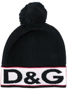 шляпа с логотипом вязки интарсия Dolce & Gabbana