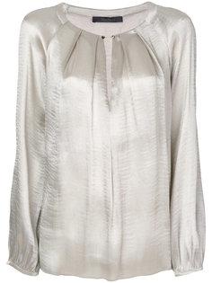 плиссированная блузка с цепочной застежкой Max Mara