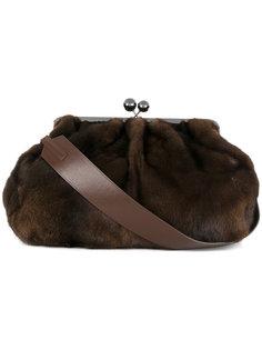 сумка на плечо с меховой отделкой Max Mara